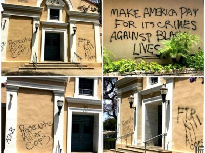 Under the Pretext of 'Black Lives Matter' Religious Symbols and Churches are Being Attacked