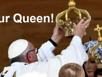 Pope Francis Crowns an Image of Mary and Burns Incense to Her