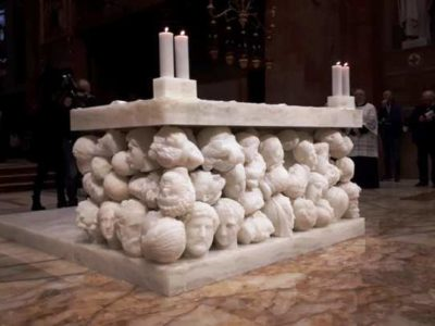 Roman Catholics Dedicate a New ISIS-like Altar Made of Severed Heads
