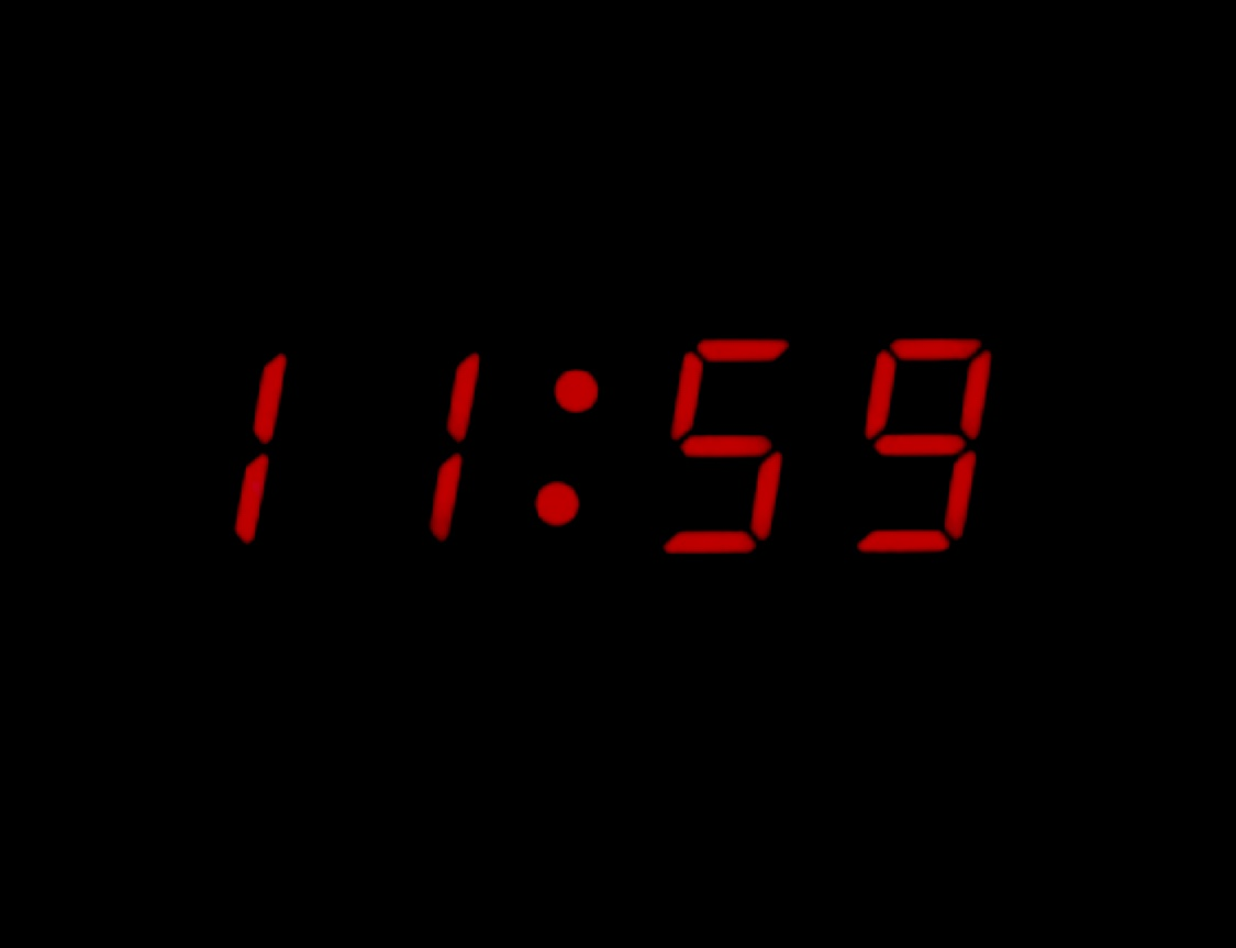 11:59 – What time is it?