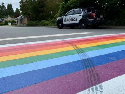 Driving Disrespectfully Over a Rainbow Crosswalk Could Result in a Hate Crime Charge