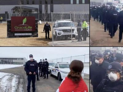 Police Go Out in Full Force to Prevent Public Worship in Canada, Forcing Christians to Start Underground Churches