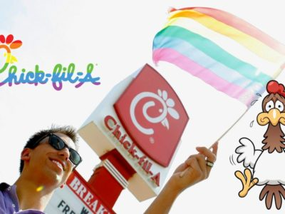 The Chickens at Chick-fil-A Bow to the LGBT+ Movement
