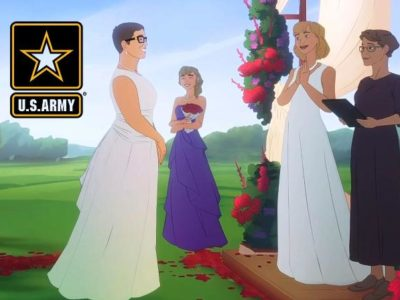 United States Army Recruiting Video Shows two 'Mommies' Getting Married While a Woman Pastor Officiates