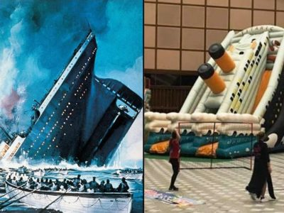 The Vatican Sets Up a Fun, Inflatable Titanic to Reenact how Passengers Slid Towards their Death