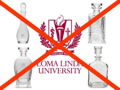 The Whiskey Bottles Have Been Removed from the 'Loma Linda University Official Bookstore'