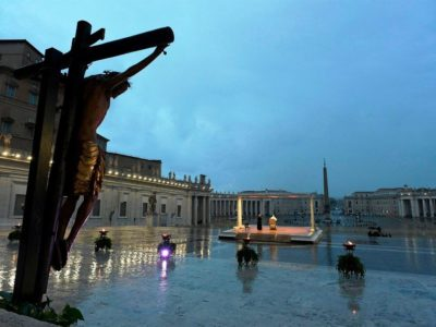 Pope Francis Delivers his Coronavirus Prayer on a Cold, Lonely and Rainy Night in Rome