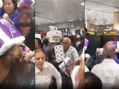 Coronavirus Madness: Stampeding Shoppers Wrestle with Each Over Toilet Paper